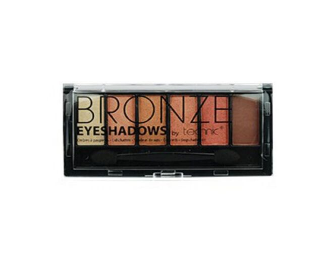 Technic 6pc Bronze Eyeshadows Palette Double ended applicator