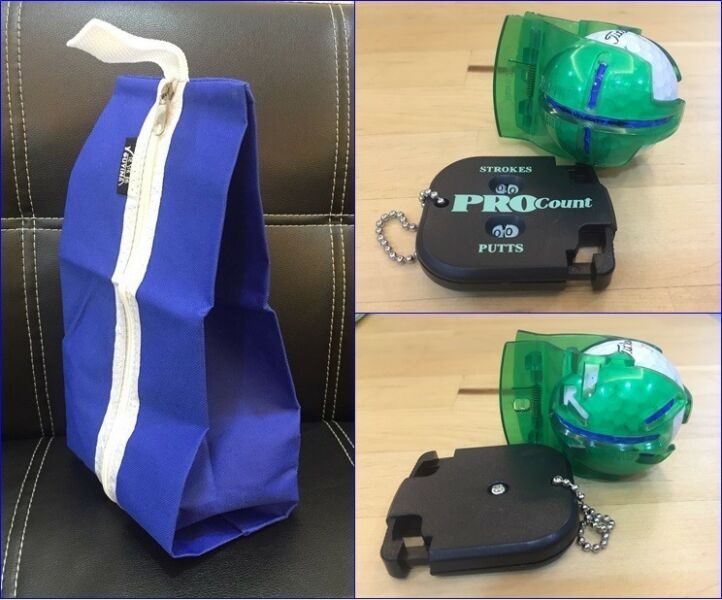 Golf Accessories & Carrier Bag
