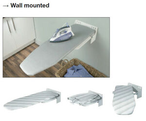 Wall mounted ironing board space saving solution in your laundry or kitchen ebay - Ironing board solutions for small spaces ideas ...