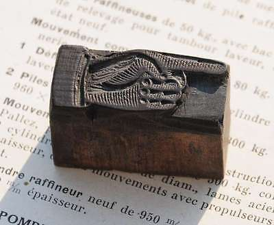 Pointing Hand Finger Letterpress Wooden Printing Block Wood Print Printers Fist