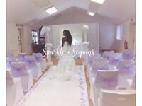 Sparkle & Sequins events Backdrop and Sweet top table styling £150