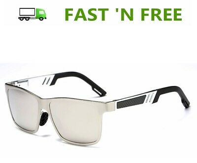 Men's Durable Metal Frame Polarized Driving Sunglasses w/ Cleaning Cloth & Pouch ()
