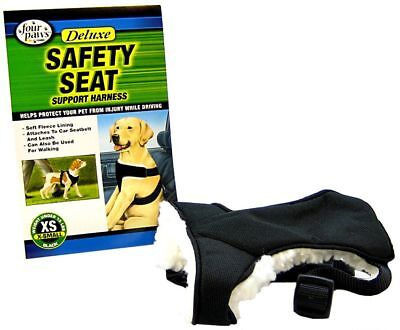Four Paws Safety Seat Vest Dog Harness Deluxe Support XS Under 15 lbs (Four Paws Safety Seat Vest)