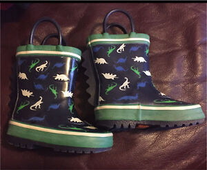 Size 5 Joe Fresh dinosaur rubber boots