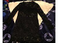 Sexy black lace bodycon dress size 12 / 14 New