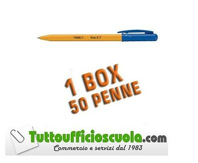 PENNE A SFERA TRATTO 1 PUNTA FINE 0,7 mm BLU - 50 pz - PENNA BAMBINI SCUOLA