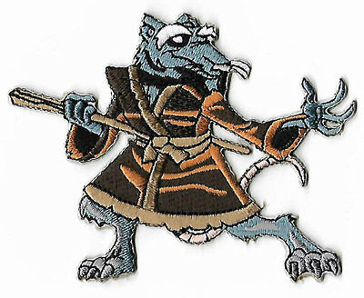 Master Splinter Patch Embroidered Badge TMNT Ninja Turtles Costume Cosplay Rat