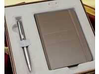 Parker Sonnet Ballpoint Pen - Stainless Steel Chrome Trim in Special Gift Box with Notebook