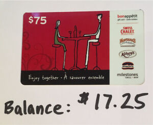 $17.25 on gift card for $12.00