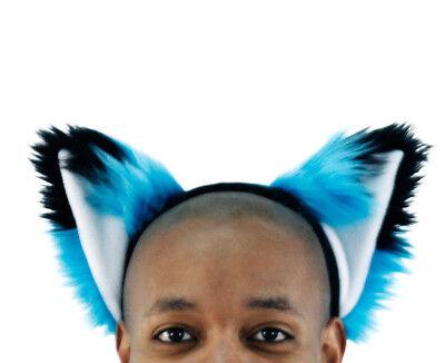 PAWSTAR Teal FOX Ears Headband - Furry Turquoise Blue costume animal [TU]3060](Fox Ears Costume)