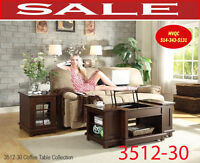 Model 3512-30, coffee table, 2 side tables
