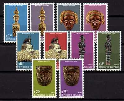 Belgisch Congo Belge - Rep. du Zaïre n° 896/905 MNH Masks Carving Arts c6.00Eu