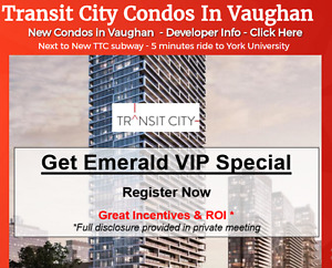Transit City New Condos In Vaughan !!