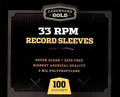300 CBG 33 RPM Record Album Poly Sleeves 12-3/4 x 13 - Acid Free - Archival Safe