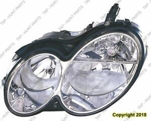 Head Lamp Driver Side Halogen Clk Models High Quality Mercedes C-Class 2008-2009