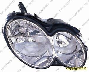 Head Lamp Passenger Side Halogen Clk Models High Quality Mercedes C-Class 2003-2007