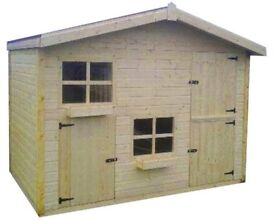 playhouse 8x8 and 10x6 both with upstairs only few months old - Garden Sheds Gumtree