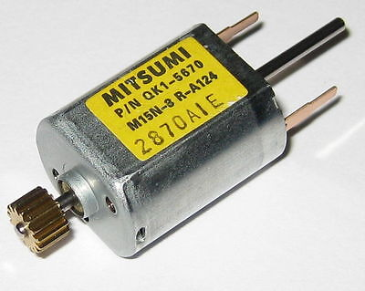 Mitsumi M15N-3 Dual 1.5 mm Dia. Shaft Electric DC Motor - 8 VDC -  Scanner Motor