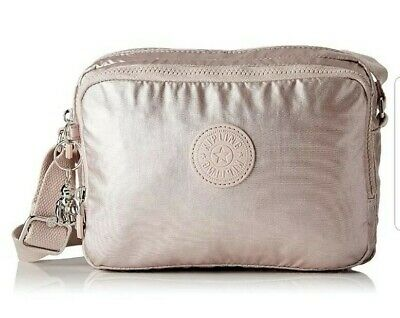 NEW Kipling Silen metallic rose small across body shoulder bag Rrp£83