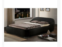 Luxury KING SIZE faux leather bed frame