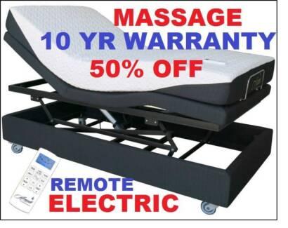 Electric Lift Bed With Massage + Mattress 10yr Warr Smart Flex 3 Sumner Brisbane South West Preview