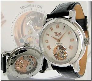 TRIAS-Tourbillon-Red-Gold-Pointer-Golden-Index-with-25-Gemstones
