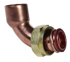"""Plumbing: Copper End feed bent tap connector 15mm x 1/2"""""""