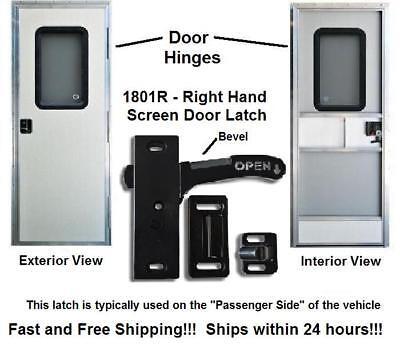 Right Hand RV Screen Door Latch - Handle E285 - Camper Motorhome Travel Trailer (Screen Door Latch)