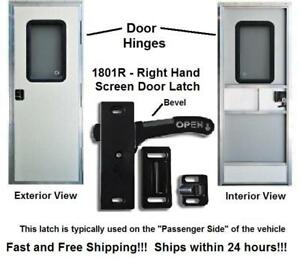 Right Hand RV Screen Door Latch - Handle E285 - Camper Motorhome Travel Trailer