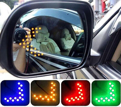 Turn Signal Mirror Lights Arrows (14 SMD LED Arrow Panel Car Rear View Mirror Indicator Turn Signal Light)