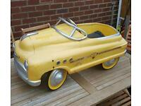 1950s buick yellow cab vintage pedal car