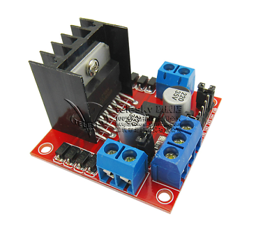 New Red L298N DC Motor Driver Module Stepper Motor Dual H Bridge Max 20W 2A Bridge for Arduino