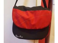 Silver Cross changing bag, red&black