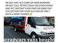 SCRAP CARS VANS WANTED 💷CASH PAID