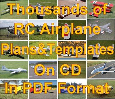 RC Airplane Plans & Templates on CD in PDF Format. Giant Scale-Gliders-Electric