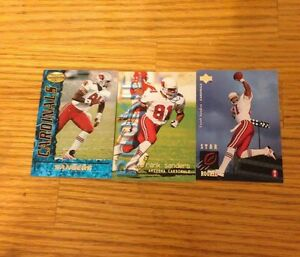 3 More Mixed Frank Sanders Football Cards