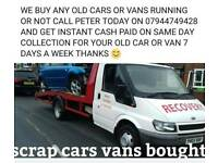 SCRAP CARS VANS BOUGHT 4 CASH
