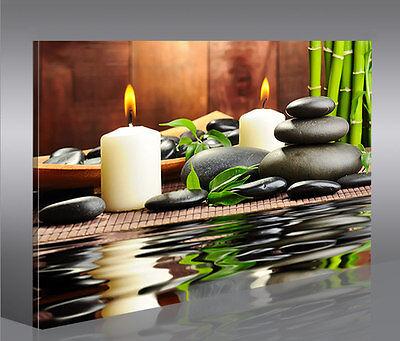 Zen Stones Feng Shui 1 Bild auf Leinwand Bilder Wandbild Poster Kunstdruck