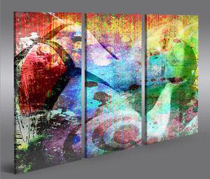 Abstract B2 3 Abstrakte Bilder auf Leinwand Wandbild Edel Poster Bild
