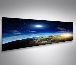 Welt 3D Panorama Format Bild auf Leinwand Poster Wandbilder