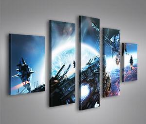Wars V4 MF 5 Bilder Star Weltraum Raumschiffe auf Leinwand Wandbild Poster