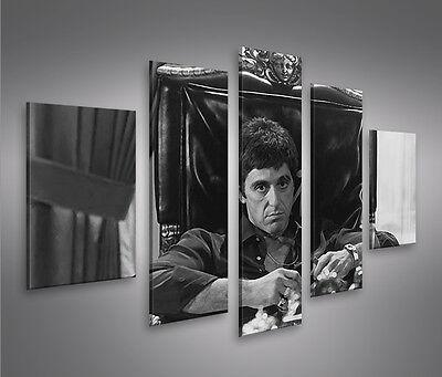 Al Pacino MF 5 Bilder Scarface Kultfilm auf Leinwand Wandbild Poster