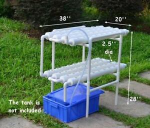 Hydroponic Site Grow Kit 72 Site Deep Water Culture Garden System Plant 141108