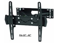 """New Brateck High Quality Cantilever TV Wall Bracket. Fits 23""""- 42"""" Flat & Curved TV's,Monitors, etc"""
