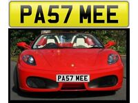 PAST ME cherished private personalised number plate reg number. PA57 MEE