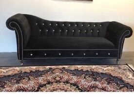 Black Velvet Boutique Sofa Set