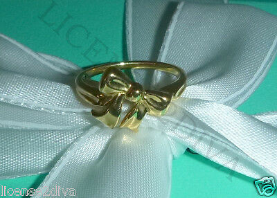 Tiffany Bow Ring (TIFFANY & CO 18K SOLID YELLOW GOLD RETIRED BOW  RING 5 GRAMS SIZE 7 TIFFANY)