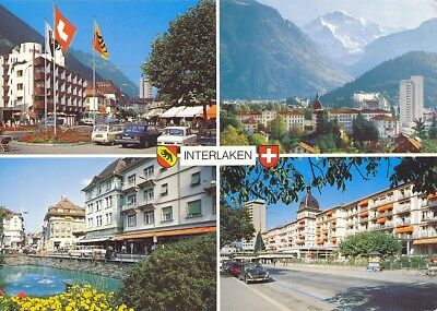 alte AK Interlaken, Berner Oberland, Schweiz 1981 gelaufen Ansichtskarte B036e