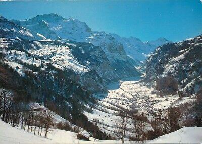alte AK 37605 Lauterbrunnental, Schweiz gelaufen Ansichtskarte B033c
