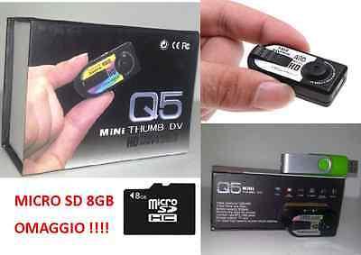 MINI VIDEOCAMERA DIGITALE HD MICRO TELECAMERA SPORT SOFTAIR AUTO MOTO CASCO SPIA